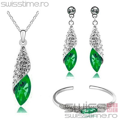 Set Crystalized Jewelry-Verde