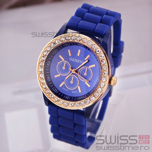 Ceas Dama Quartz Geneva Crystal Joy