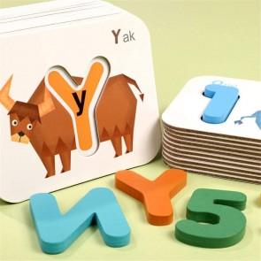 Set educativ Montessori potrivire litere si cifre eSelect