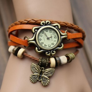 Ceas Dama Quartz Genuine Leather Vintage