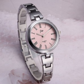 Ceas Dama Quartz jw Silver Pink