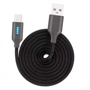 Cablu de date si incarcare tip USB-C 1m 13009CBL-negru