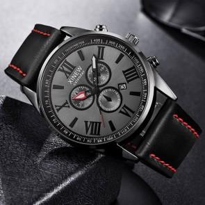 Ceas Quartz XINEW Black Trend