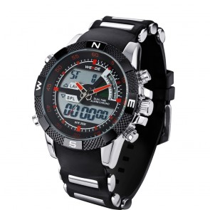 Ceas WEIDE Quartz Casual Sport Rosu WH1104-11C
