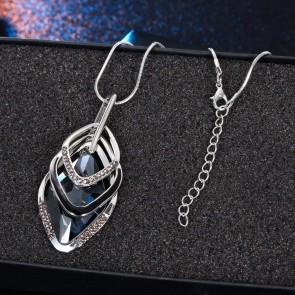 Colier romb 3037COL-argintiu