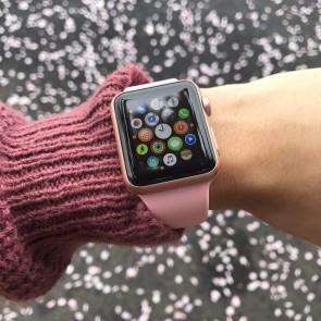 Bratara silicon compatibila Apple Watch 1/2/3/4/5 42/44 mm S/M 8008ACS-rose