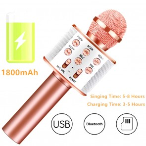 Microfon Karaoke Wireless Bluetooth 6023MIC-rose