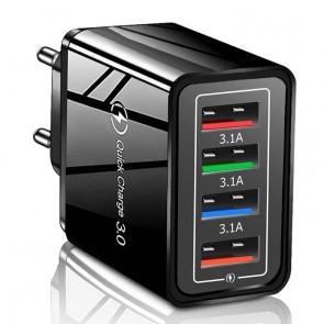 Adaptor priza 4 x USB 6039USB-negru