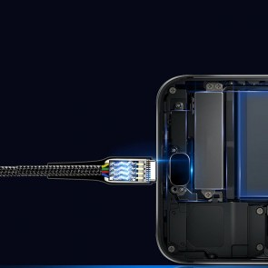 Cablu de date si incarcare tip USB-C 1m 13008CBL-negru