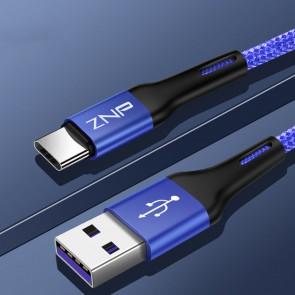 Cablu de date si incarcare tip USB-C 1m 13008CBL-albastru