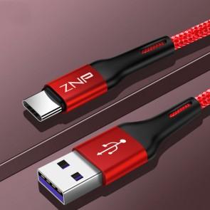 Cablu de date si incarcare tip USB-C 1m 13008CBL-rosu