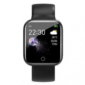 Ceas Sport Fitness Tracker Smartwatch i5-negru