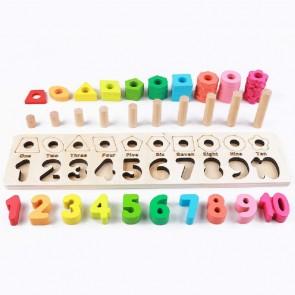 Puzzle Montessori numere din lemn eSelect