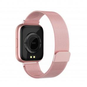 Ceas Sport Fitness Tracker Smartwatch i5 Mesh-rose