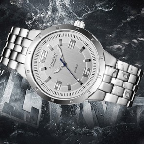 Ceas Cuartz Curren Silver Inlaid