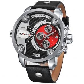 Ceas WEIDE Quartz Casual Sport Rosu WH3301-3C
