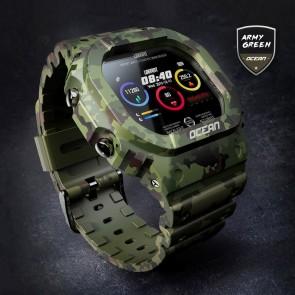 Ceas Sport Fitness Tracker Smartwatch Ocean-verde