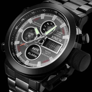 Ceas Quartz XINEW Black Bolt