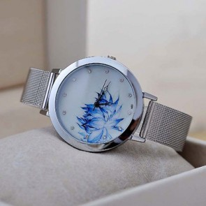 Ceas Dama Quartz Blue Bloom
