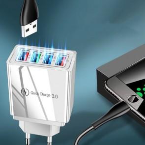 Adaptor priza 4 x USB 6039USB-alb