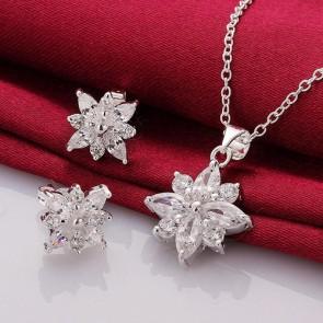 Set Silver Flower