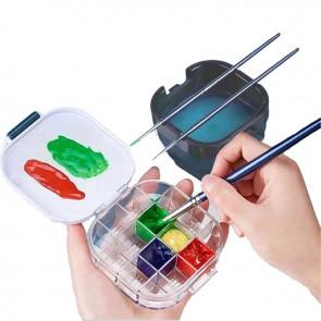 Cutie apa pliabila pt desen suport pensule si culori eSelect