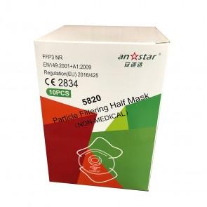Set 10 bucati Masca protectie conica FFP3 cu Valva respiratorie si filtrare ≥ 99% Certificata CE, Anstar