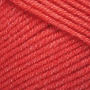 Fir Textil YarnArt Jeans 26, pentru tricotat si crosetat, bumbac si poliacril, Rosu, 50 gr
