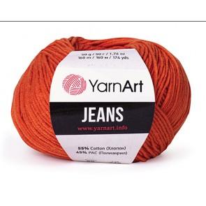 Fir Textil YarnArt Jeans 23, pentru tricotat si crosetat, bumbac si poliacril, Portocaliu, 50 gr