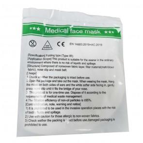 Set 5 bucati Masca Medicala de protectie, tip II R 3D (Folding Type), filtrare BFE ≥ 99%
