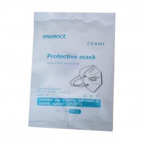 Set 5 bucati Masca de protectie FFP2 / KN95 / N95, 5 straturi, Certificata pentru protectie impotriva COVID-19, sigilate individual