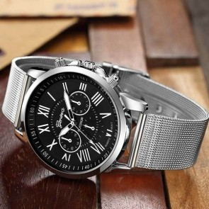 Ceas Quartz Geneva Casual Black